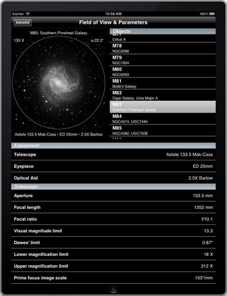 AstroAid, iPad, Portrait