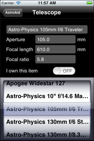 AstroAid select telescope